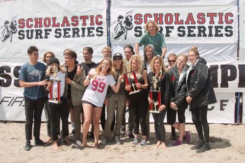 San Clemente High School surf team. Photo: Sheri Crummer