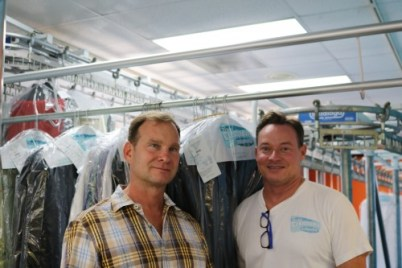 Bonded Cleaners & Laundry owners Greg Suding and Scott English just recently opened a Dana Point location in addition to the longstanding San Clemente outlet. Photo: Alison Shea