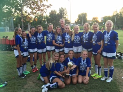 The Pacific Soccer Club Blue Fire girls U14 team won the West Coast Futbol Classic on Aug. 16. Photo: Courtesy