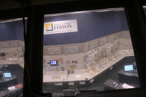 The main control room at SONGS used to be operated by more than a dozen people at once, 24 hours a day. It is now monitored by only a few.  Photo: Eric Heinz
