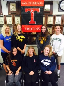 San Clemente student athletes will sign their National Letter of Intent this fall. Photo: Courtesy