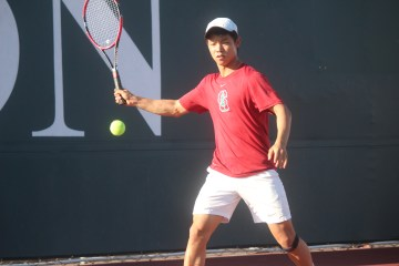 San Clemente senior Jay Yeam will headline a strong returning group of singles players on the Triton tennis team. Photo: Steve Breazeale