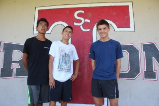 Carlos De Jesus, Roger Lopez and Josh Nullmeyer return to lead the San Clemente boys cross country team. Photo: Steve Breazeale