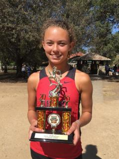 Junior runner Chandler Horton placed 15th overall at the OC Championships meet on Oct. 15, earning All-County honorable mention. Photo: Courtesy