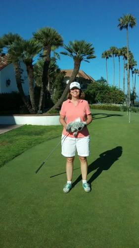 Lori Van Hove won the San Clemente Municipal Golf Course's Women's Club Championship for a third year in a row. Photo: Courtesy