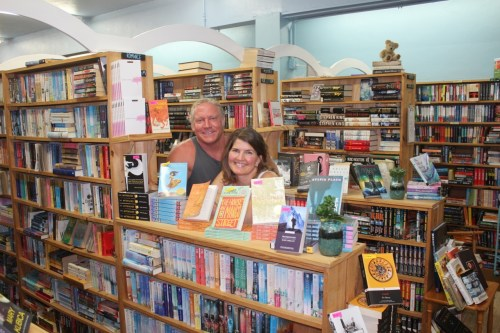 Owners of Beach Town Books, Scott and Debbie Langston, started their business last year with hopes of success. They celebrated their one-year anniversary of the business this year. Photo: Danny Ritz