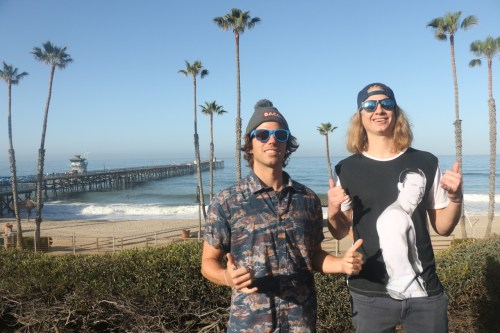 Chad and Bodhi gave the San Clemente City Council a surprise in March when they proposed putting a large statue of Paul Walker at the end of the Pier. Photo: Eric Heinz