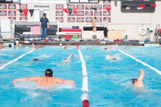 The Tritons boys swim team has all-around depth and coach Thomas Dollar hope that can finally lead them to the missing piece and a league title. Photo: Zach Cavanagh