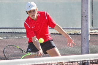 The San Clemente boys tennis team is on the hunt for an eighth consecutive league title, and a tough early schedule should help smooth out the bumps to peak later in the season. Photo: Zach Cavanagh