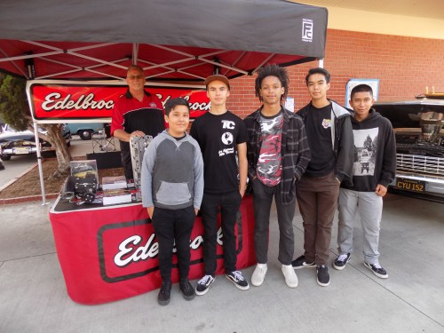 Students of the San Clemente High School Auto Academy recently met with industry professionals during an Industry Night and Car Show. Photo: Courtesy of Lou Leto