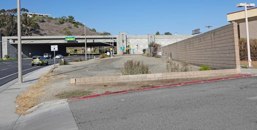 This 11,009-square-foot vacant lot at 524 E. Avenida Pico is left over from the recent I-5 widening project. Now it's up for sale. Any ideas, San Clemente? Photo: Fred Swegles