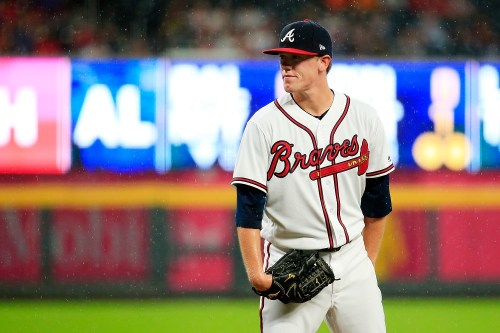 ATLANTA, GA - JULY 31: Kolby Allard #36 of the Atlanta Braves pitches in the first inning against the Miami Marlins at SunTrust Park on July 31, 2018 in Atlanta, Georgia. (Photo by Daniel Shirey/Atlanta Braves)