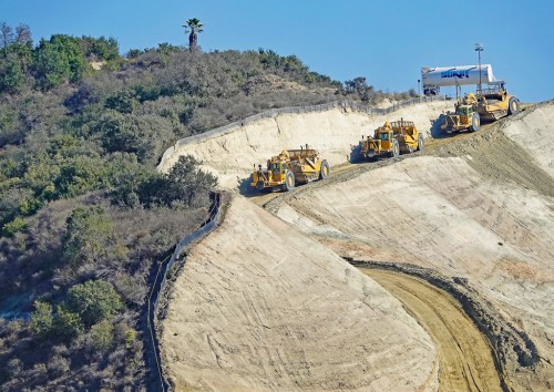 Trampas Canyon Reservoir will collect recycled water produced by as many as five wastewater treatment plants and store it as a regional resource. Photo: Fred Swegles