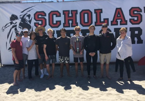 San Clemente High School won its divisional state championship for the Scholastic Surf Series on April 13 in Oceanside. Photo: Courtesy of the Scholastic Surf Series