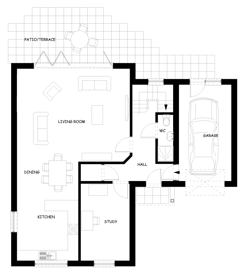 House Type Two Ground Floor