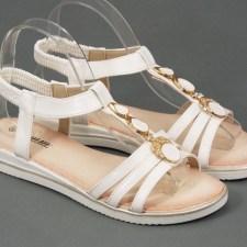 Sandale dama albe Alina