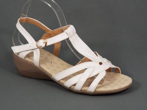 Sandale dama albe toc 4