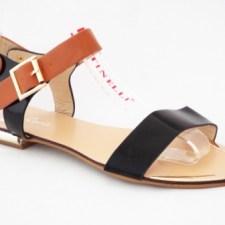 Sandale dama aurii cu negru