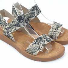 Sandale dama bej cu negru Zore