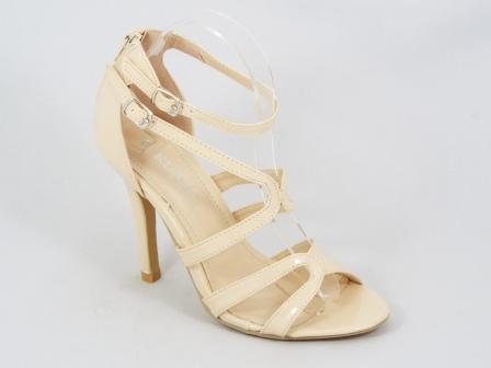 Sandale dama bej lac toc 10