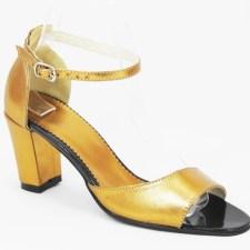 Sandale dama piele aurii Ekaterina