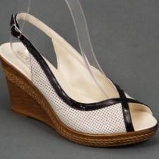 Sandale dama piele bej ortopedice toc 8