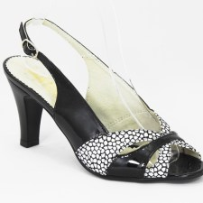 Sandale dama piele negre Enika4