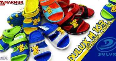 Sandal Anak Lucu Dulux M 163 Pokemon Pikachu