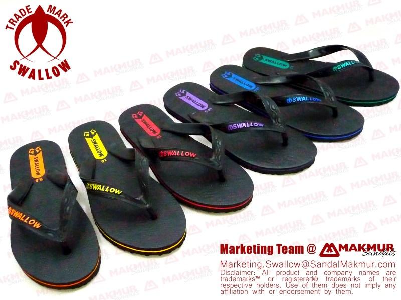 sandal SWALLOW hitam BLACK PEARL