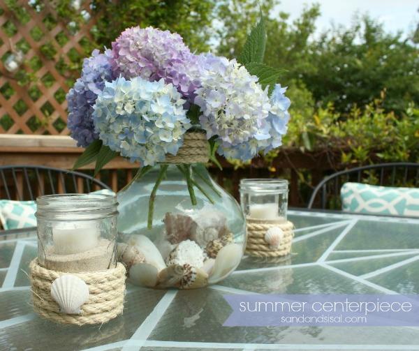 Simple Summer Centerpiece Blog Hop Sand And Sisal