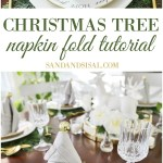 Christmas Tree Napkin Fold Tutorial Sand And Sisal