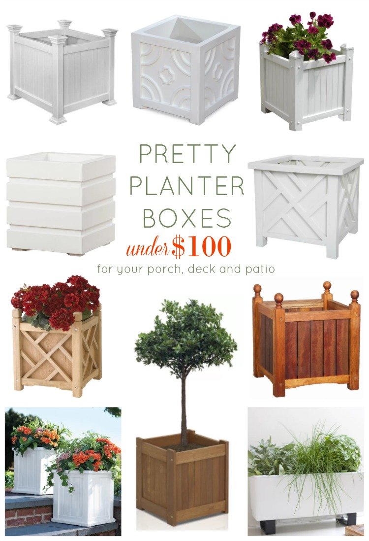 pretty planter boxes under 100 for the