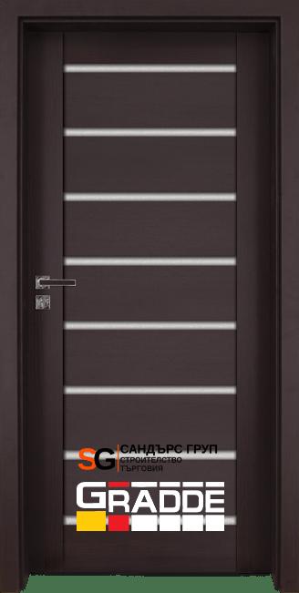 Интериорна врата Gradde Axel Glas ОРЕХ РИБЕЙРА