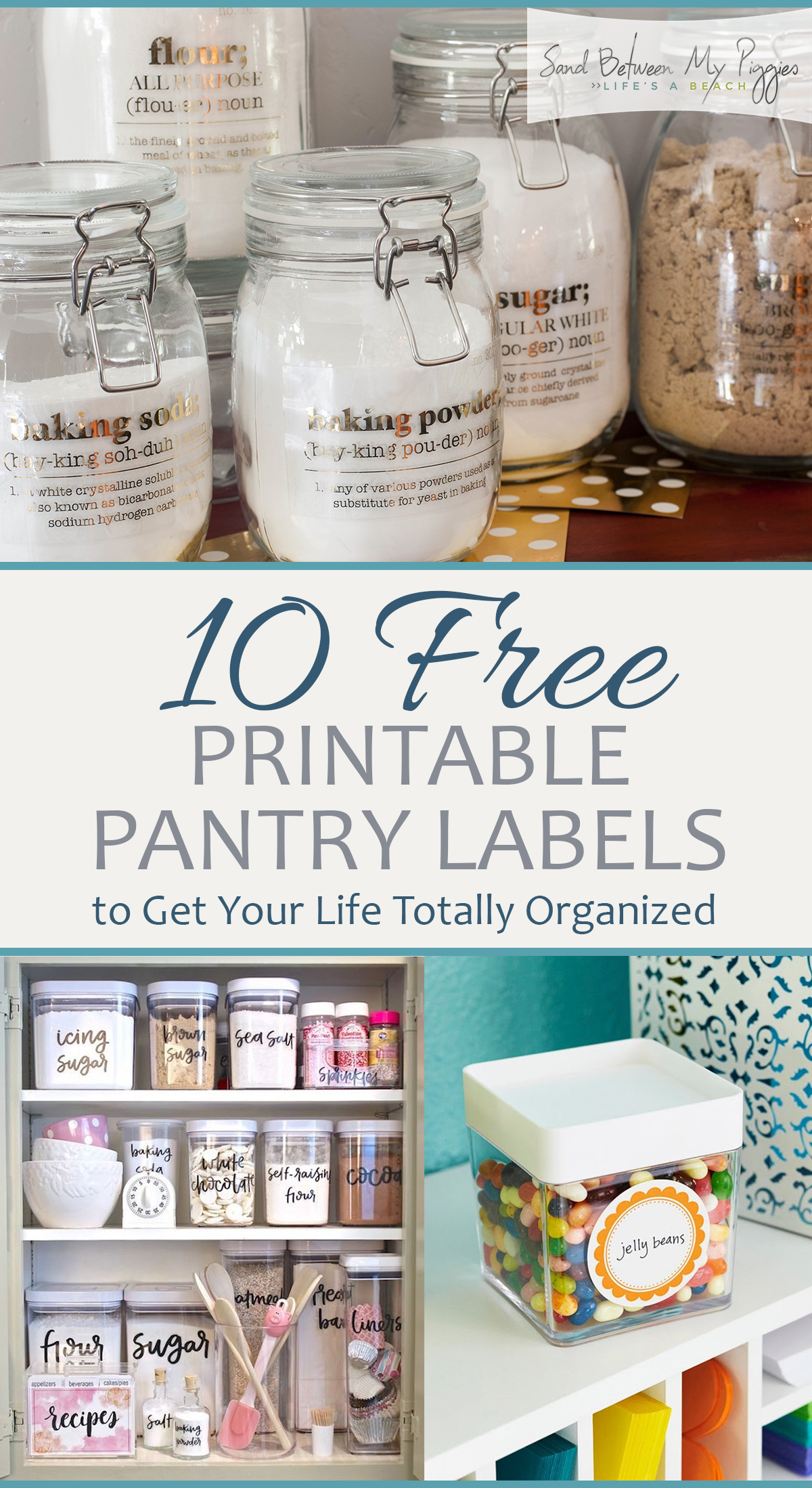 10 Free Printable Pantry Labels To Get Your Life Totally Organized
