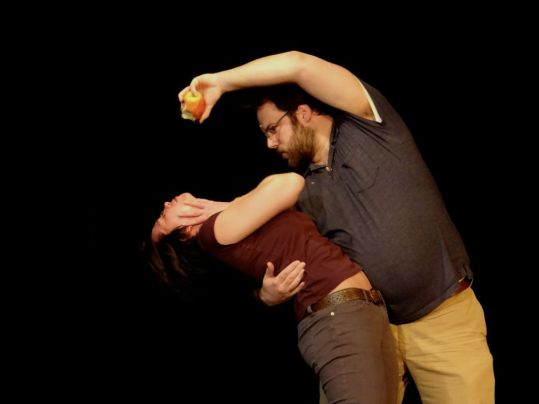 Danielle Siver, Peter Heeringa in Orange Ave for Sandbox Theatre's Suitcase (2013)