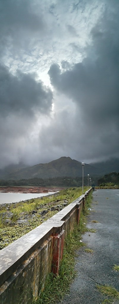 Shot on Nexus 4 - Vertical panorama of the Banasura Sagar Dam.