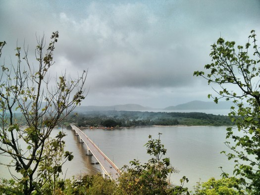 View of the bridge after the storm passed. Karwar