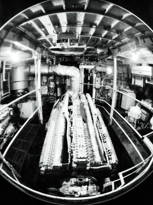 Inside the warship engine room. Karwar