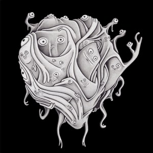 Shirt design of a floating surreal creature