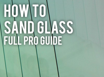 how to sand glass