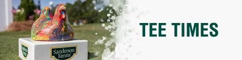 PGA Tour Sanderson Farms Championship Tee Times