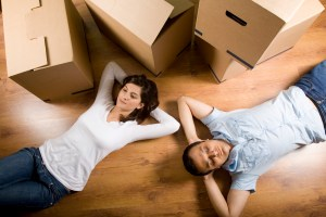couple moved house