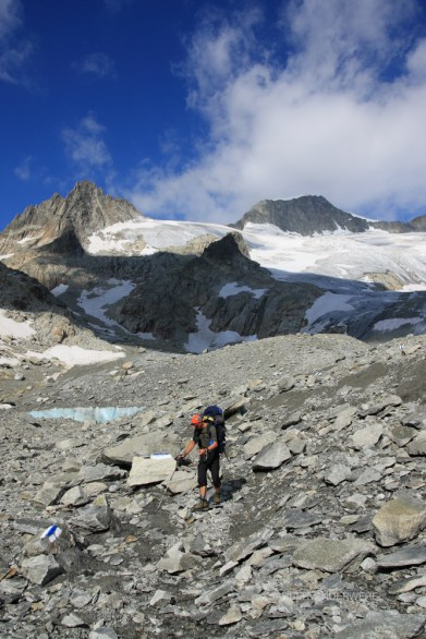 Hiking near the Galenstock in the Urner Alps