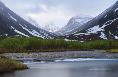 River in Arctic Lapland.