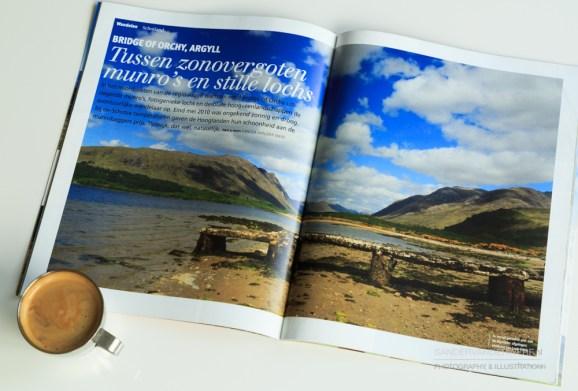 Bergen Magazine, article 'Tussen zonovergoten munro's en stille loch's'.