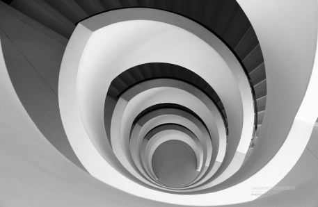 Stairs in the university library of Lyon.