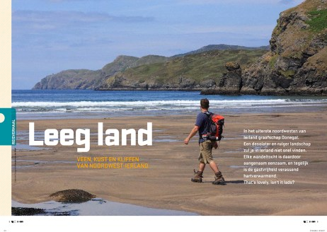 Article 'Leeg land' in Op Pad magazine.