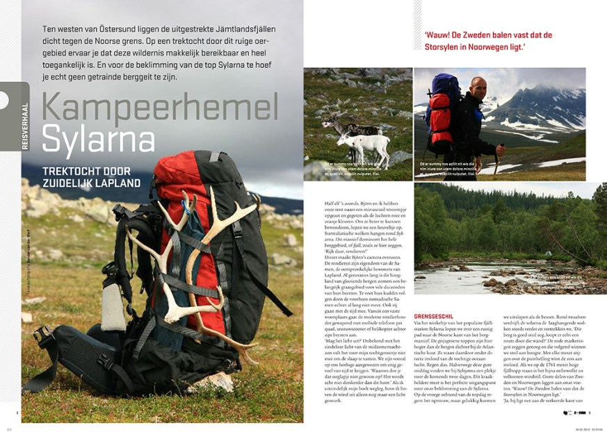 Article 'Kampeerhemel Sylarna' in Op Pad magazine.