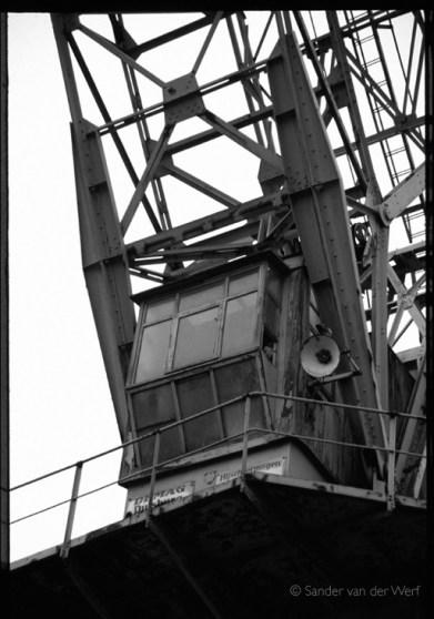 Crane in the city of Antwerpen.