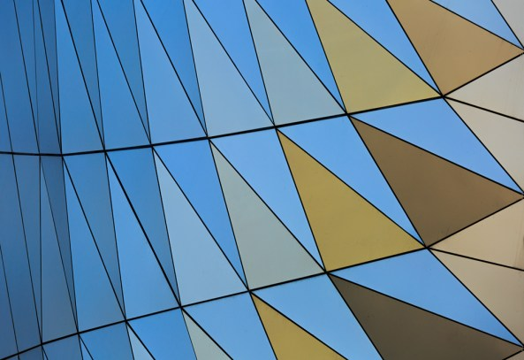 Pattern of the facade of Musee des Confluences.